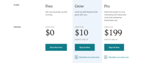 offre commerciale pricing ventes prix mailchimp