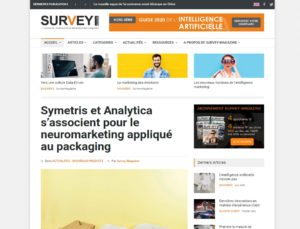 Article sur CogniPackaging dans Survey Magazine